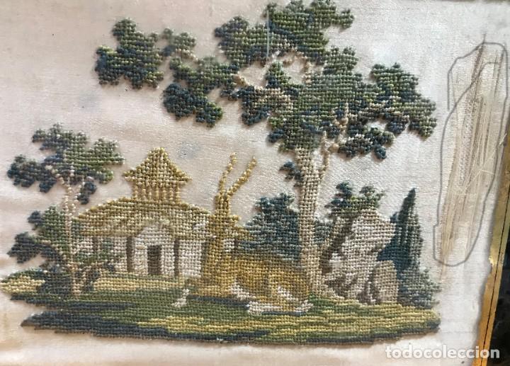 Antigüedades: kit de petit point sobre seda - Foto 3 - 221902401