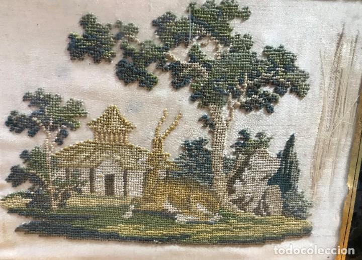 Antigüedades: kit de petit point sobre seda - Foto 4 - 221902401
