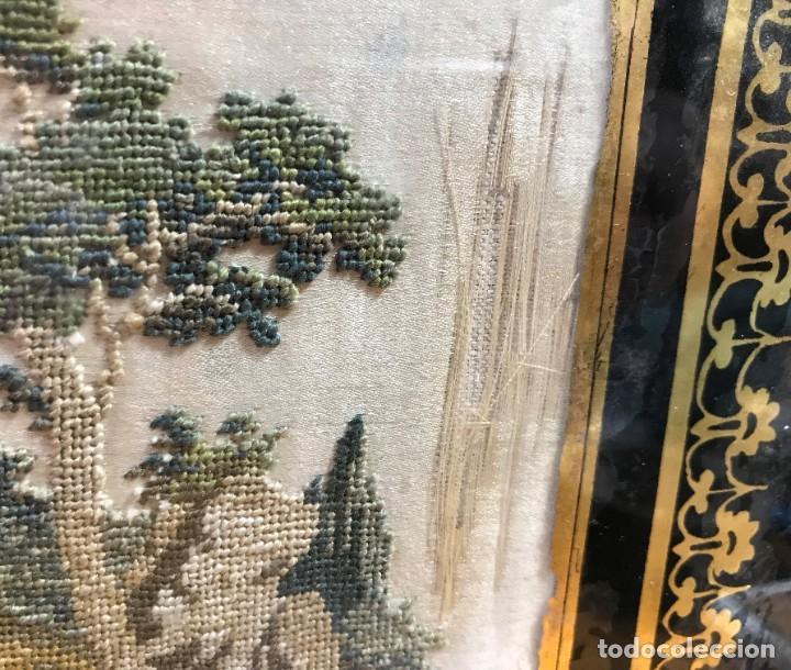 Antigüedades: kit de petit point sobre seda - Foto 6 - 221902401
