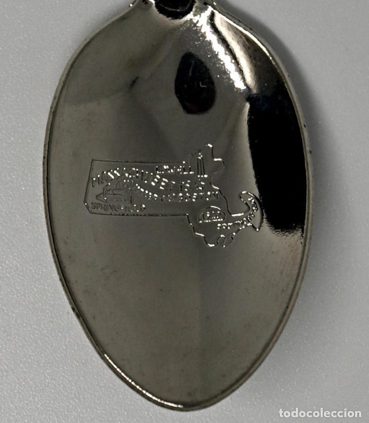Antigüedades: CUCHARA CUCHARILLA DE METAL PLATEADO. FORT. USA JOHN F KENNEDY LIBRARY BOSTON. 11 CM.VER FOTOS Y MAS - Foto 7 - 221914043