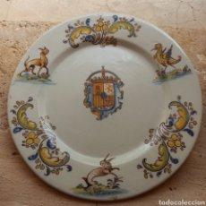 Antigüedades: PLATO ANTIGUO DE TALAVERA - FIRMADO POR RUIZ DE LUNA - NÚMERADO 178. Lote 221915230