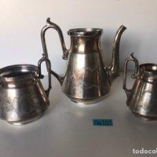 Antigüedades: ANTIGUO JUEGO DE JARRAS SILVERPLATE 1177. Lote 221940632
