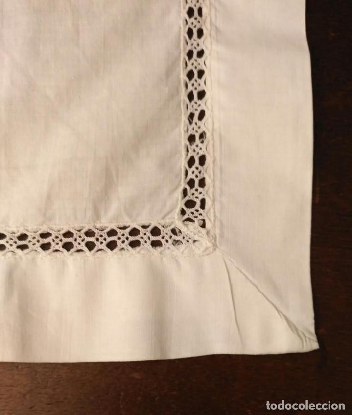 Antigüedades: VD 22 Delantal blanco con bolsillo y puntilla para traje regional i/o disfraz - 28cm x 44cm - Foto 3 - 221941858