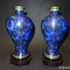 Antigüedades: BÚCAROS CHINOS CLOISSONE. Lote 221948165