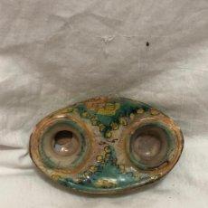 Antigüedades: TINTERO DE PUENTE DEL ARZOBISPO NO EN BUEN ESTADO RESEÑADO EN FOTOS. Lote 221948205