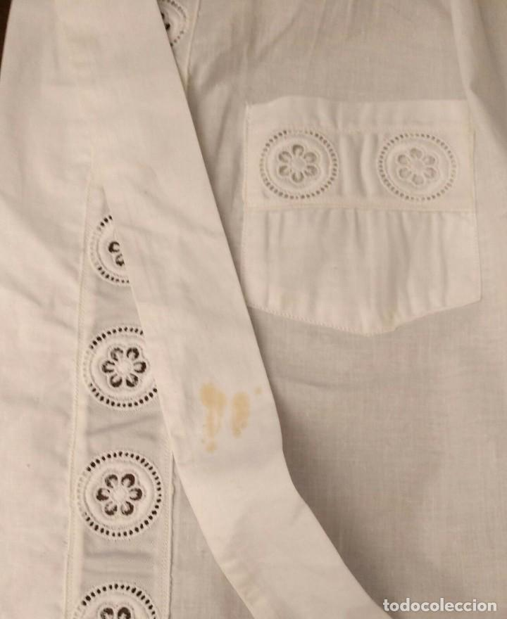 Antigüedades: VD 23 Elegante delantal blanco con bolsillos - traje regional, disfraz y/o doncella - 47cm x 53cm - Foto 6 - 221950210