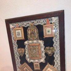 Antigüedades: LOTE DE RELICARIOS GRAN TAMAÑO AGNUS DEI... ESCAPULARIOS. Lote 221956485