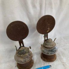 Antiquités: LOTE DOS LAMPARAS QUINQUES!. Lote 221963897