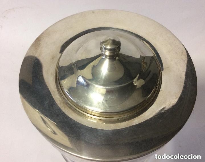 Antigüedades: Cáliz cristal tallado y plata de Ley 925ml, para liturgia religiosa Curiosa copa de cristal tal - Foto 5 - 221967183