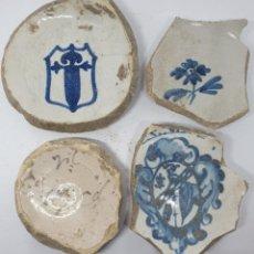 Antigüedades: DE MUSEO,FRAGMENTOS CENTRALES DE PLATOS EN CERAMICA DE TALAVERA,(TOLEDO),S. XVI-XVIII. Lote 221967873