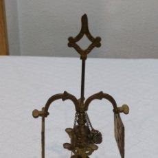 Antigüedades: ANTIGUO CANDIL O BELON DE ACEITE DE BRONCE. Lote 221973432