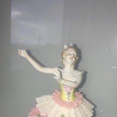 Antigüedades: PORCELANA ALEMANA BAILARINA ART DECÓ UNTER WEISS BACH CIRCA 1900. Lote 221978430