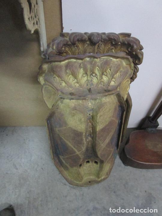 Antigüedades: Antigua Pareja de Paneles para Apliques, Decoración - Bronce Cincelado - 20 Kg Unidad - S. XIX - Foto 28 - 218560271