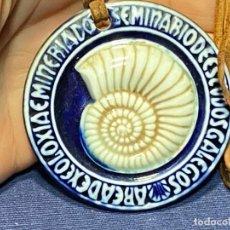 Oggetti Antichi: SEMINARIO ESTUDIOS GALEGOS GALICIA SARGADELOS MEDALLON PORCELANA MINERIA GEOLOGIA 1984 65MM. Lote 221989805