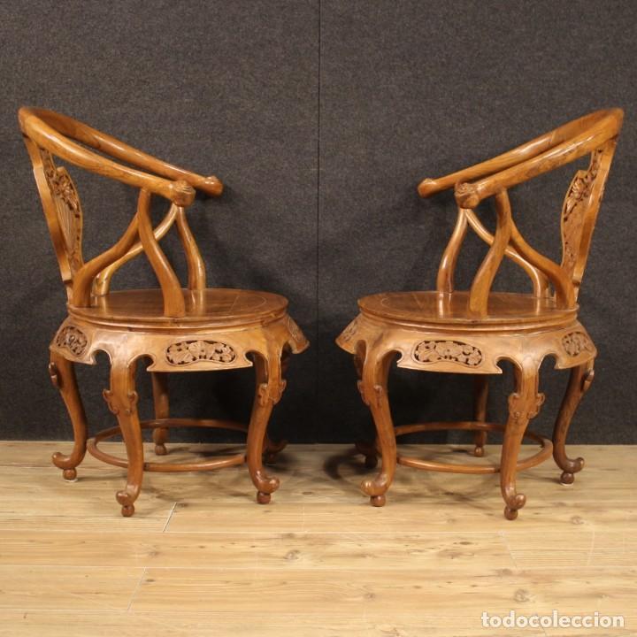 Antigüedades: Par de sillones chinos en madera exótica - Foto 4 - 221994251