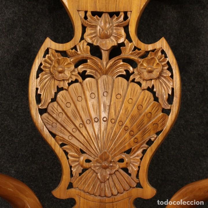 Antigüedades: Par de sillones chinos en madera exótica - Foto 8 - 221994251
