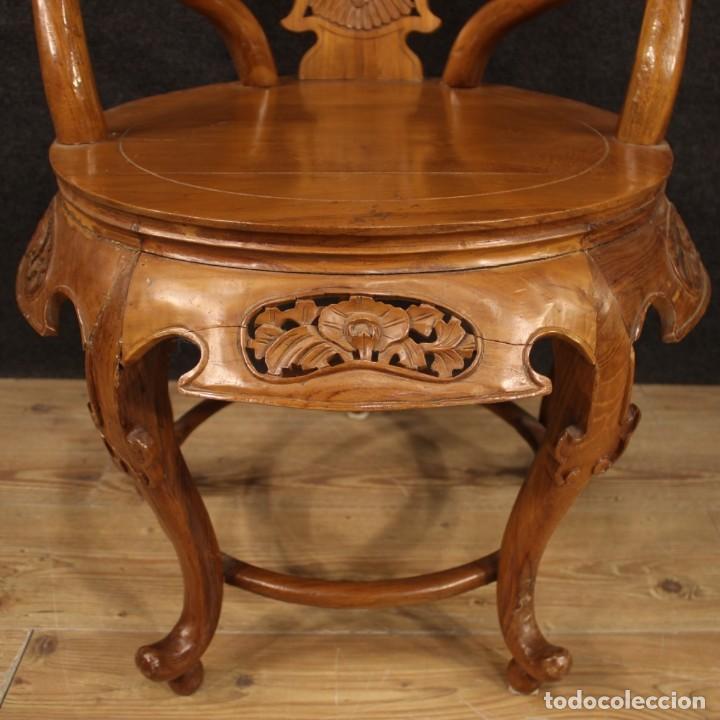 Antigüedades: Par de sillones chinos en madera exótica - Foto 9 - 221994251
