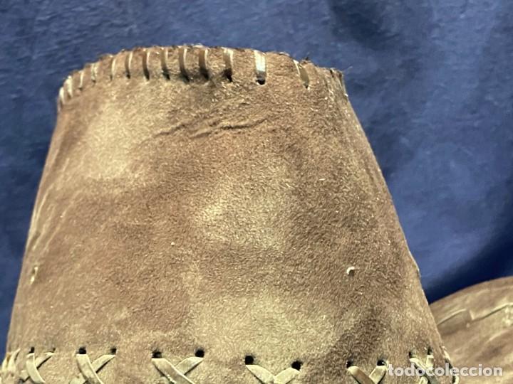 Antigüedades: SOMBRERO TIPO VAQUERO FIELTRO 15X35X37CMS - Foto 3 - 221998946