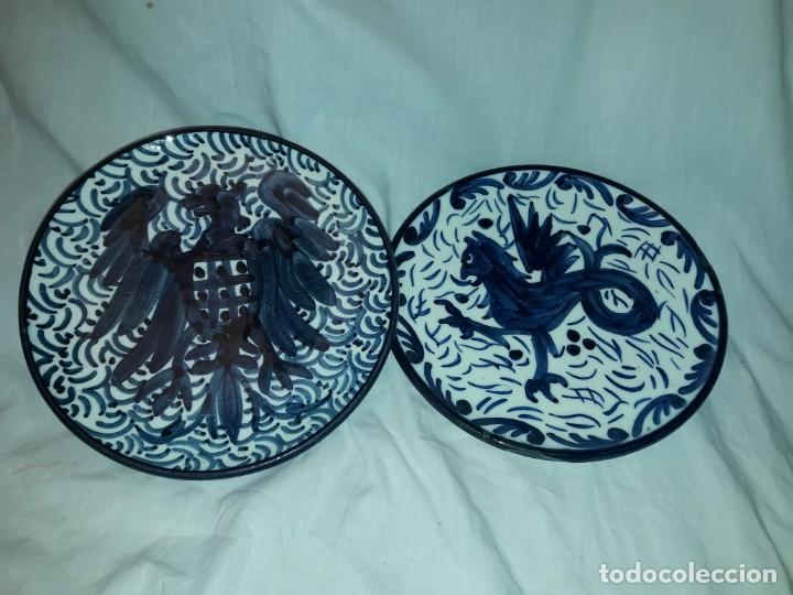 MAGNIFICA PAREJA DE PLATOS CERÁMICA PASCUAL ZORRILLA BELLA DECORACIÓN (Antigüedades - Porcelanas y Cerámicas - Manises)