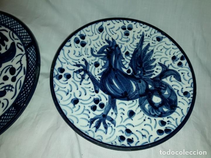 Antigüedades: Magnifica pareja de platos cerámica Pascual Zorrilla bella decoración - Foto 3 - 222038158