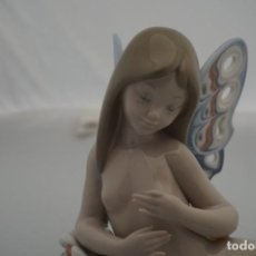 Antigüedades: VERY RARE / LLADRO REF: 1403 BUTTERFLY GIRL 1982 / DESCATALOGADA EN 1987 - 16 X20 CM. Lote 222046260