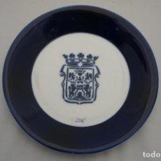Antigüedades: PLATO ESCUDO VIGO SARGADELOS 19,5 CM DIAMETRO. Lote 222067492