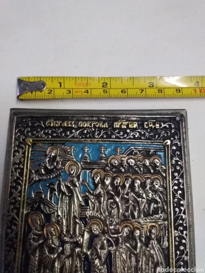 Antigüedades: ICONO VIRGEN DE LA MISEDICORDIA (POKROW-RUSSIA) VIRGIN OF MERCY (END SIGLO XIX) SILVER & GOLD PLATED - Foto 2 - 222071981