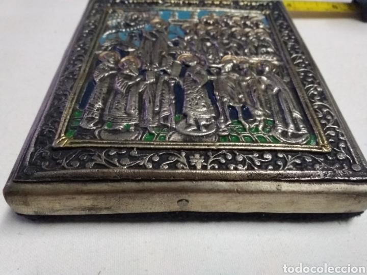 Antigüedades: ICONO VIRGEN DE LA MISEDICORDIA (POKROW-RUSSIA) VIRGIN OF MERCY (END SIGLO XIX) SILVER & GOLD PLATED - Foto 4 - 222071981