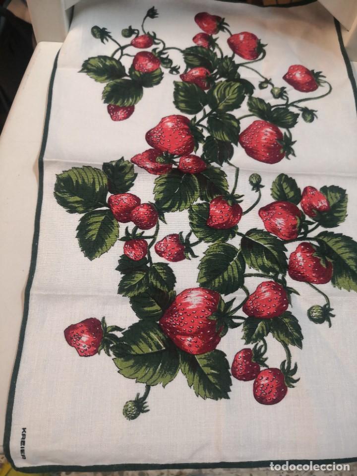Antigüedades: Juego 5 piezas mesa vintage servilletas marca KREIER - Foto 4 - 222073712