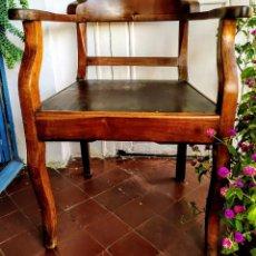 Antigüedades: SILLON DE CAOBA DE CUBA. Lote 222077945