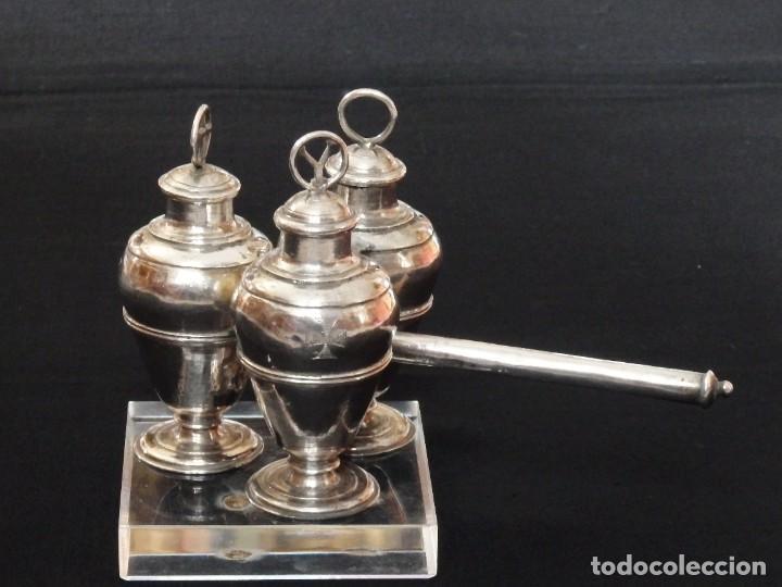Antigüedades: Santos óleos elaborados en plata. Siglo XVIII. - Foto 2 - 222081780