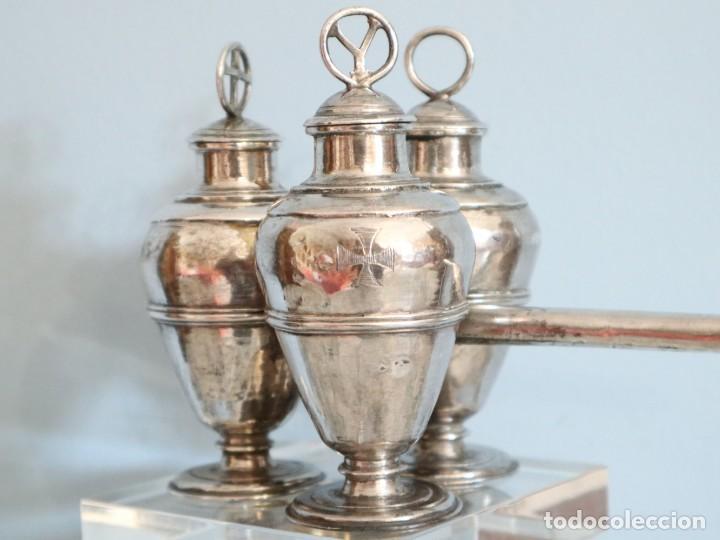 Antigüedades: Santos óleos elaborados en plata. Siglo XVIII. - Foto 9 - 222081780