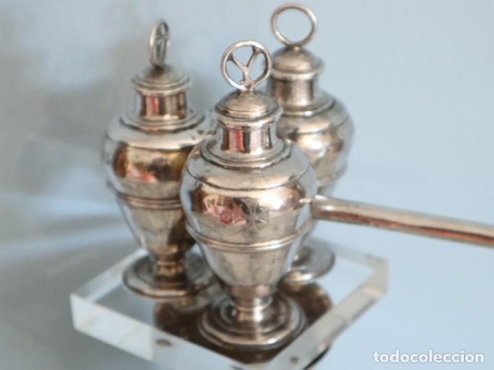 Antigüedades: Santos óleos elaborados en plata. Siglo XVIII. - Foto 10 - 222081780