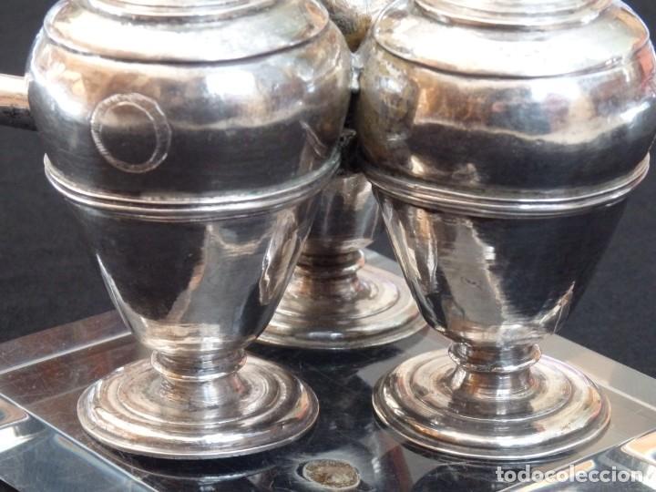 Antigüedades: Santos óleos elaborados en plata. Siglo XVIII. - Foto 12 - 222081780