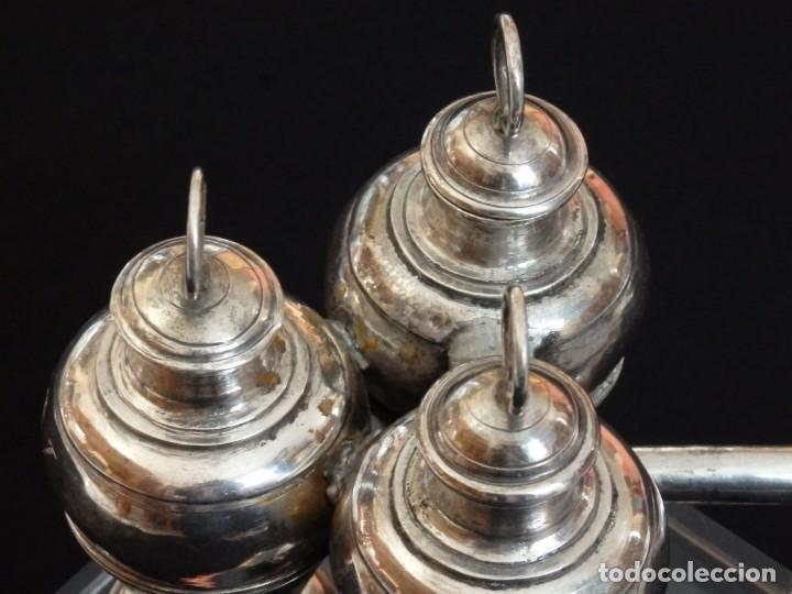 Antigüedades: Santos óleos elaborados en plata. Siglo XVIII. - Foto 17 - 222081780