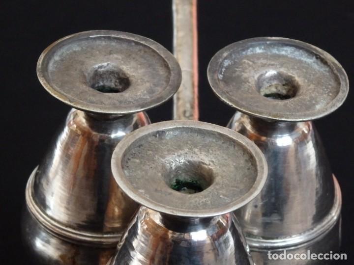 Antigüedades: Santos óleos elaborados en plata. Siglo XVIII. - Foto 18 - 222081780