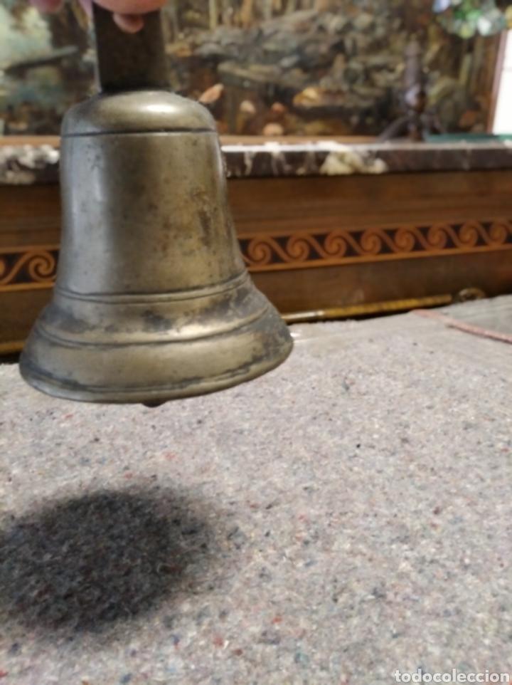 Antigüedades: Campana de bronce y hierro - Foto 4 - 222106515