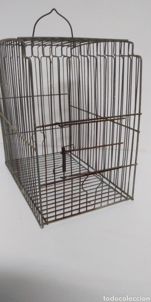 Antigüedades: Antigua jaula de metal , buen estado , tal y como se ve en las fotos . - Foto 2 - 222109275