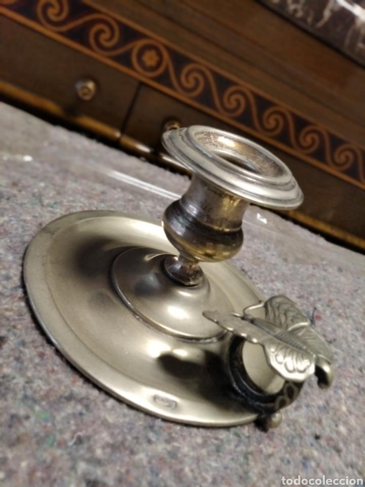 Antigüedades: Portavelas de plata meneses - Foto 2 - 222111555