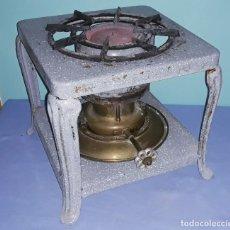 Antigüedades: ANTIGUO HORNILLO ORIGINAL PRACTIC ESMALTADO DE METAL Y BRONCE COMPLETO AÑOS 40. Lote 222114810