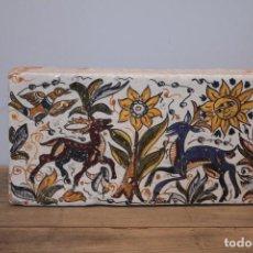 Antigüedades: IMPORTANTE PIEZA DE BARRO DE HERMANOS ESCOBAR, FIRMADA, PUENTE DEL ARZOBISPO. 28X14CM, PIEZA UNICA.. Lote 222117757