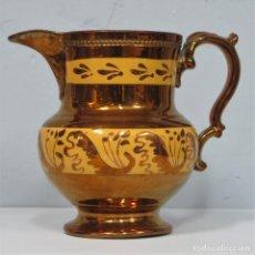 Antigüedades: ANTIGUA JARRA DE PICO DE REFLEJOS. BRISTOL. SIGLO XIX. Lote 222129913