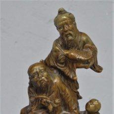 Antigüedades: FIGURA DE PIEDRA JABONOSA. CHINA. SIGLO XX. Lote 222129961