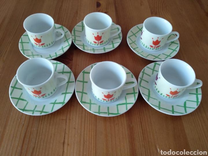 Antigüedades: JUEGO DE SEIS TAZAS DE CAFE REVISTA PRONTO - Foto 3 - 222141586