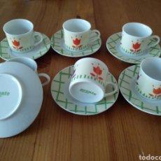 Antigüedades: JUEGO DE SEIS TAZAS DE CAFE REVISTA PRONTO. Lote 222141586