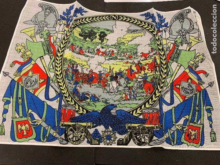 ANTIGUO PAÑUELO, LA BATALLA DE ABACTRIM. GUERRAS NAPOLEONICAS. MIDE 34X24CMS. IDEAL PARA ENMARCAR. (Antigüedades - Moda - Pañuelos Antiguos)