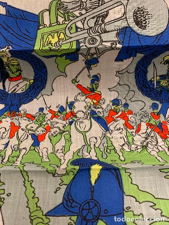 Antigüedades: Antiguo pañuelo, La batalla de Abactrim. Guerras Napoleonicas. Mide 34x24cms. Ideal para enmarcar. - Foto 3 - 222145036