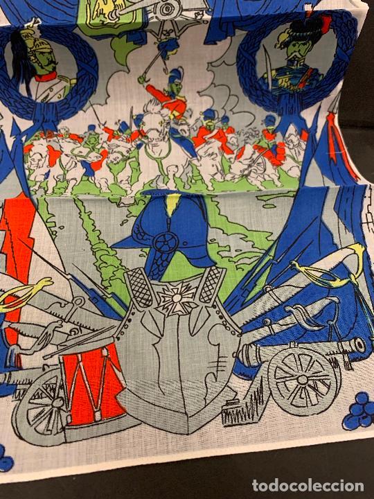 Antigüedades: Antiguo pañuelo, La batalla de Abactrim. Guerras Napoleonicas. Mide 34x24cms. Ideal para enmarcar. - Foto 4 - 222145036