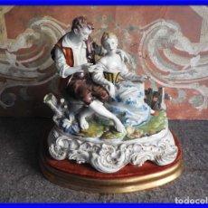 Antigüedades: FIGURA DE PORCELANA HISPANIA MOTIVO ROMANTICO PERFECTO ESTADO. Lote 222152783