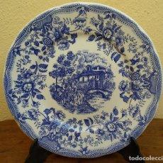 Antigüedades: DECORATIVO PLATO DE PORCELANA INGLESA, PERFECTO ESTADO, 24,5 CM.. Lote 222170607